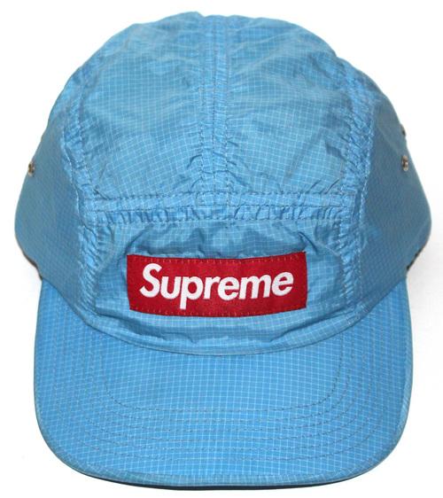 Supreme Grid Light Blue Nylon 5 Panel Hat. sup suo y .jpg c5a803e8111