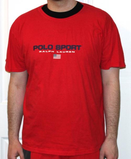 f436ac4db Vintage Polo Sport Ralph Lauren USA Red T Shirt (Size XL). polo-sport-tee -red-logo-1.jpg