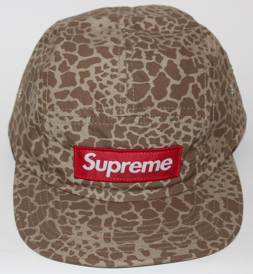 25b1a8aabf4 Supreme Giraffe 5 Panel Camp Cap — Roots