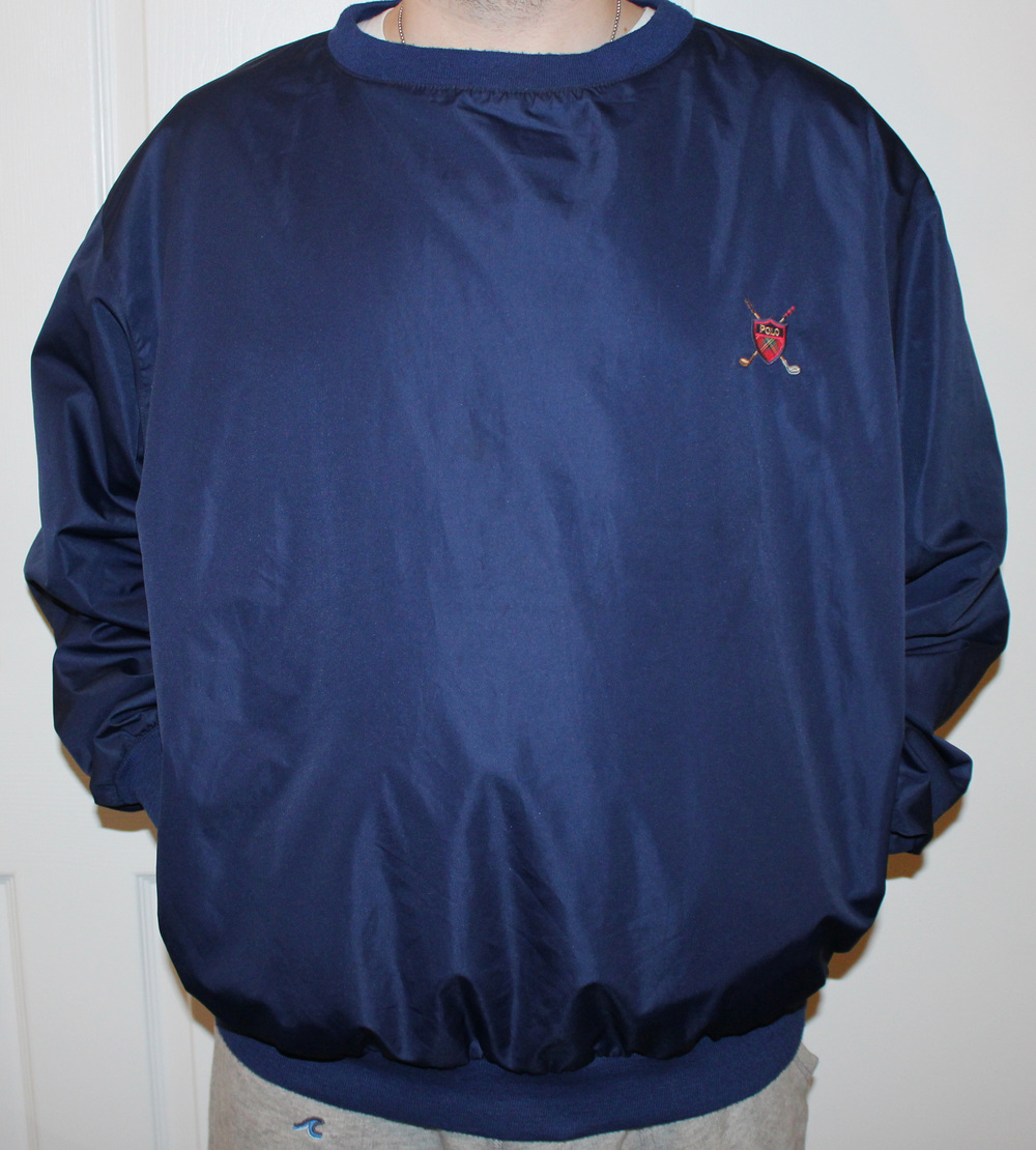 vintage polo ralph lauren golf navy pull over size xl. Black Bedroom Furniture Sets. Home Design Ideas