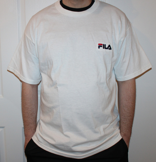 Vintage Fila Spell Out Embroidered T Shirt (Size L) — Roots 95ddc7ec8e5e