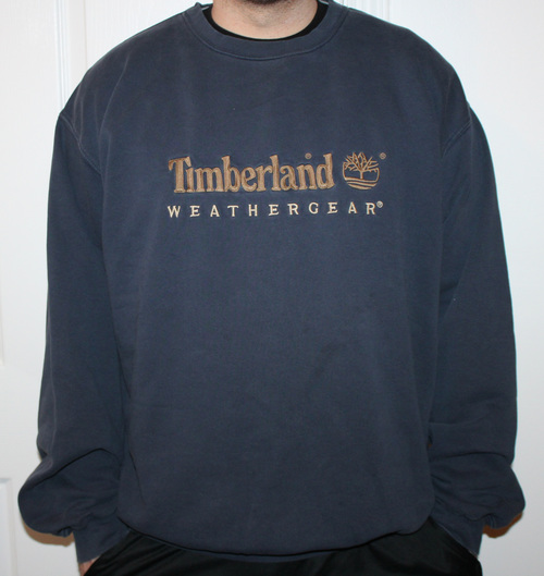 competitive price 3e4ad 17fbd Vintage 90s Timberland navy blue Weathergear crew neck