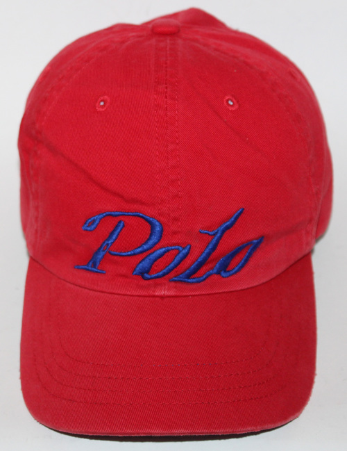 Vintage Polo Red Royal Script Strapback Hat — Roots 75c134cb5047
