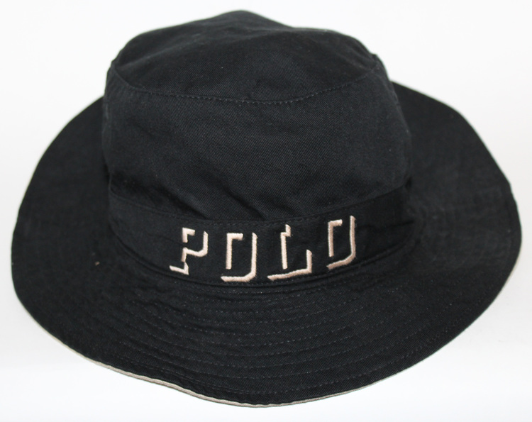 Vintage Polo Ghost Logo Black   Khaki Bucket Hat (Size L) — Roots 449861cbcda