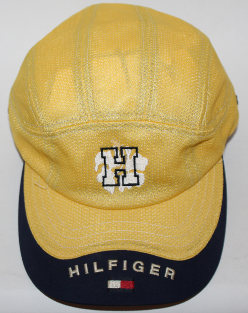 Vintage Tommy Hilfiger 8 Panel Yellow Spell Out Strapback Hat — Roots 1adf157b926