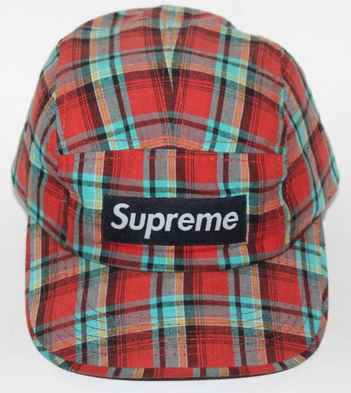 Supreme Red Plaid 5 Panel Hat. r sup 1 .jpg c3bb0a010c4