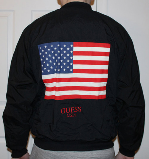 Vintage Guess U.S.A. Bomber Jacket (One Size Fits All) — Roots