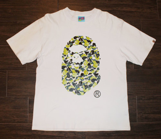 Bape Large Camo Logo T Shirt Size L Roots