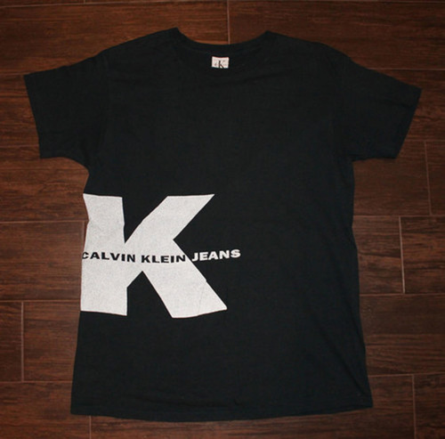 fbd919701dcb Vintage Calvin Klein Jeans Navy/3M Reflective Graphic T Shirt (Size ...
