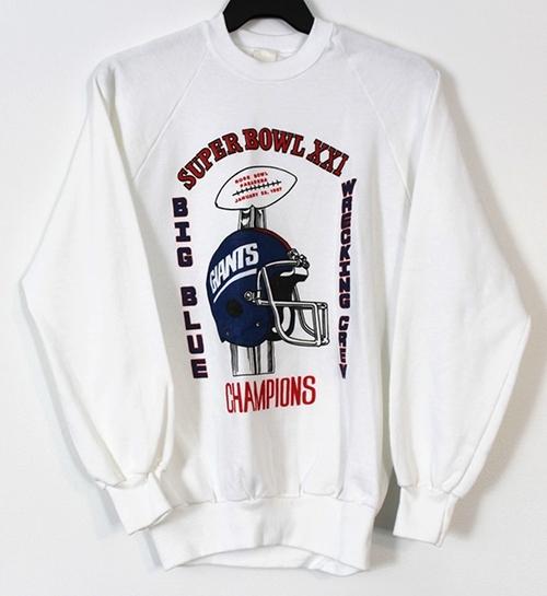 Vintage New York Giants Super Bowl XXI Champions Crew Neck ... 400c482d3