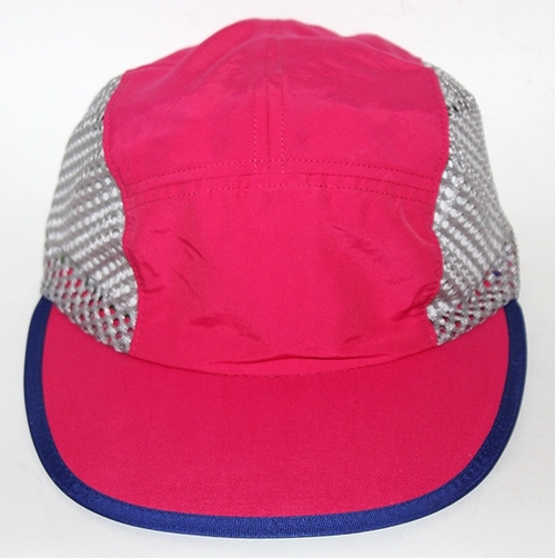d5515cad7ba31 Vintage Patagonia Mesh 5 Panel Pink   Blue   Grey Hat — Roots