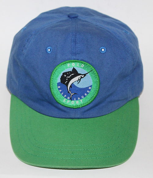 ee4abf2b887 Vintage Polo Sport Marlin Navy   Green Strap back Hat — Roots