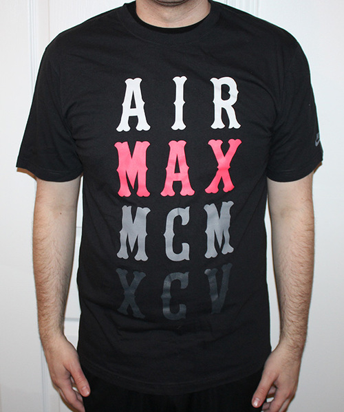 2f76d8d83265f7 Nike Air Max MCM Black   Infrared T Shirt (Size L) — Roots