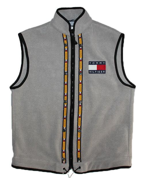 48b9d92f5d5f3 Vintage Tommy Hilfiger Grey Fleece Vest (Size M) — Roots