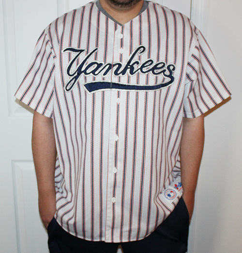 bcc5a0e3f Vintage Majestic New York Yankees Red   Navy   Silver Mesh Button ...