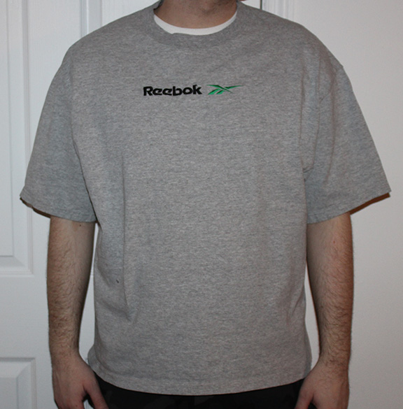 reebok t shirt green