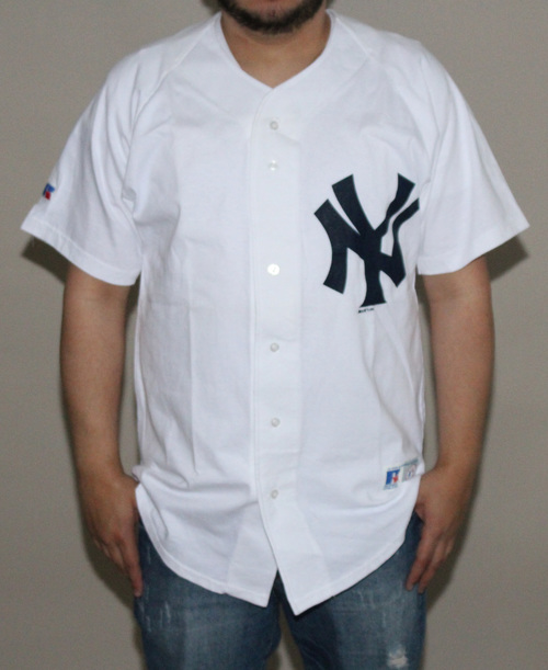 Russell Athletic New York Yankees White Jersey (Size L) — Roots 2208e0a3ba1
