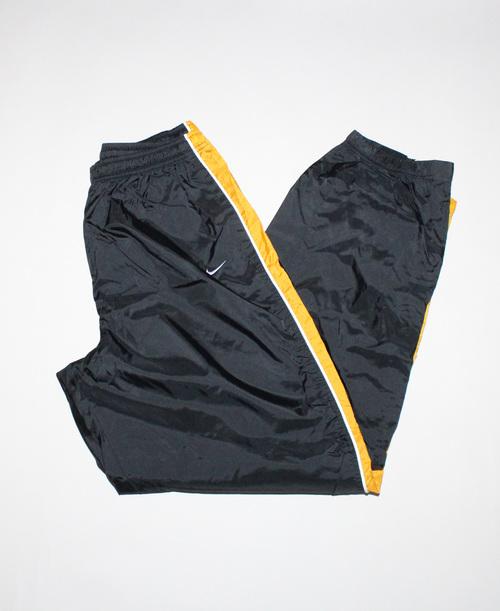 Vintage 90s Nike Black   Yellow WIndbreaker Pants (Size XXL) — Roots f511a697f