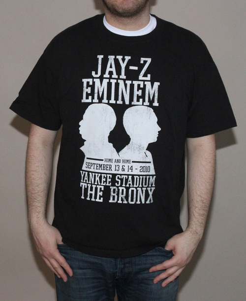 Jay-Z And Eminem Yankee Stadium Concert T Shirt (Size XL) — Roots