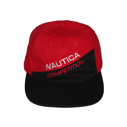 Vintage Nautica Competition Red   Black Hat — Roots f751d554b19