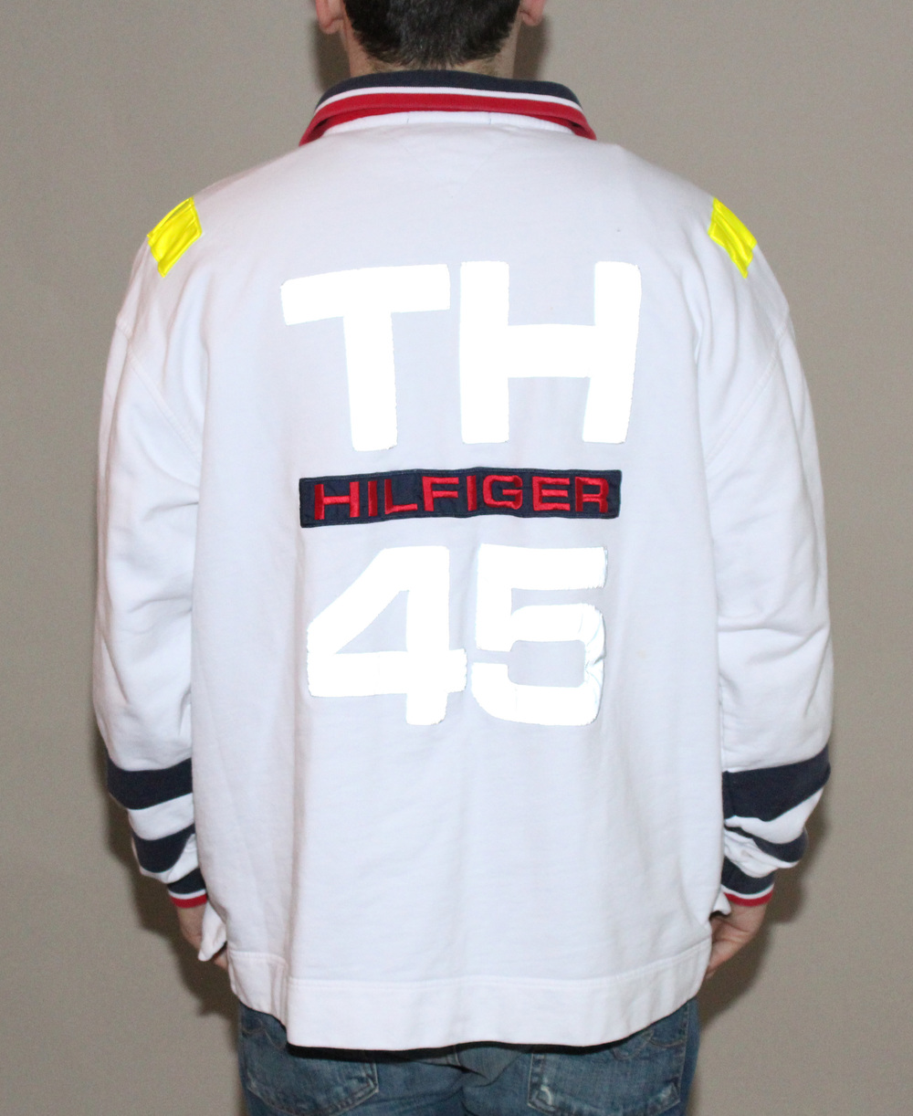 8f078882 Vintage Tommy Hilfiger Sailing Gear 3M reflective long sleeve rugby