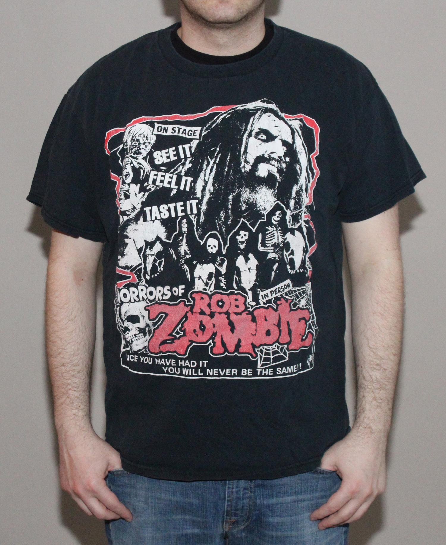 vintage Rob zombie music concert movie medium mens t shirt
