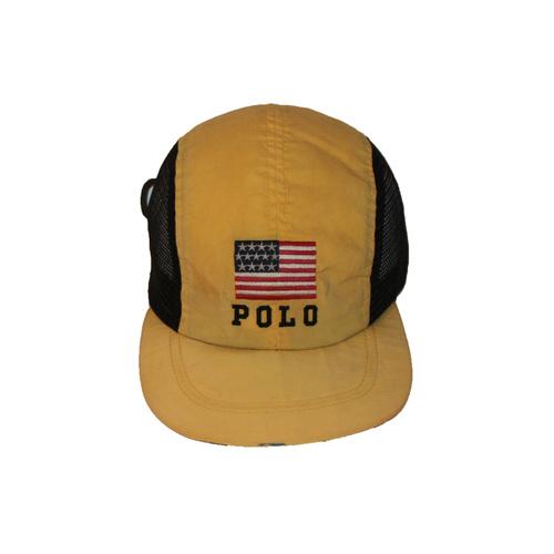 ... latest design 280cb d0dba Vintage Polo Sport Ralph Lauren Yellow Mesh Panel  Hat ... ef70faa2439
