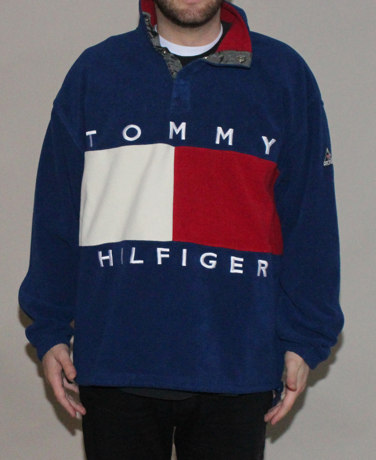 de7bd269e043d7 Vintage Tommy Hilfiger Expedition Big Logo Fleece (Size XL) — Roots