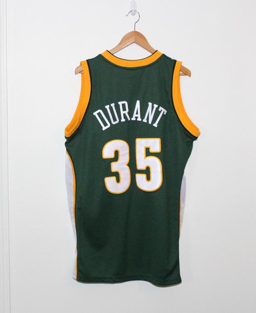 5d9f556b1cc Adidas Seattle Super Sonics Kevin Durant Authentic Jersey (Size 40 ...