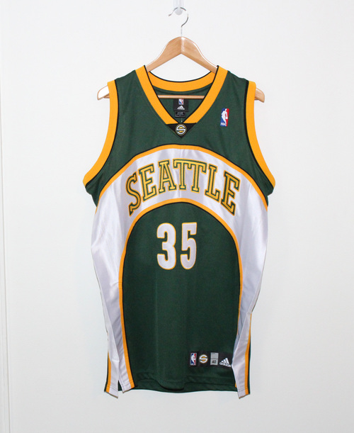 e107fc821cce Adidas Seattle Super Sonics Kevin Durant Authentic Jersey (Size 40 ...