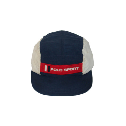 Vintage Polo Sport 5 Panel Navy   Red Hat — Roots 2a62634bc66