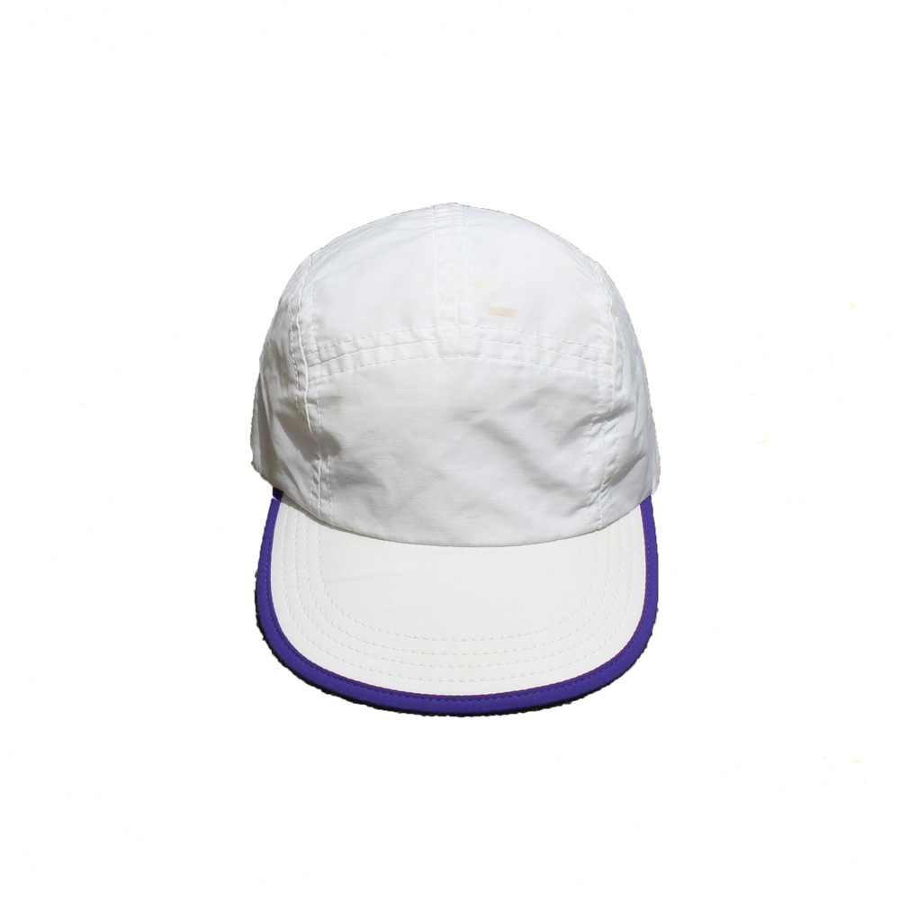Vintage 90s L.L Bean white and purple nylon 5 panel hat 51e03ac102ea