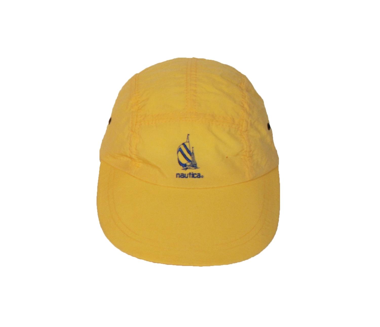 Vintage Nautica Yellow   Royal Longbill 5 Panel Hat — Roots 75e38de263c