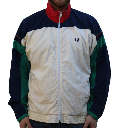 4b92e0c0 Vintage Fred Perry Colorful Windbreaker (Size L) — Roots