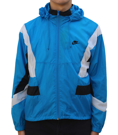 25892f072409 Vintage Nike Baby Blue   Black   White Windbreaker (Size M) — Roots
