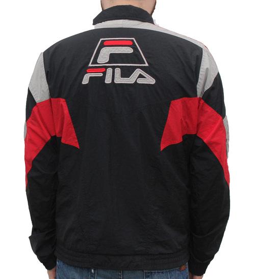 f95abdde4a803 Vintage 90s Fila Grant Hill red, black, grey windbreakerVintage 90s Fila  Grant Hill red