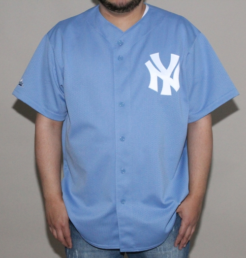 Majestic New York Yankees Baby Blue Jersey (Size XL) — Roots a86bc63bc0b