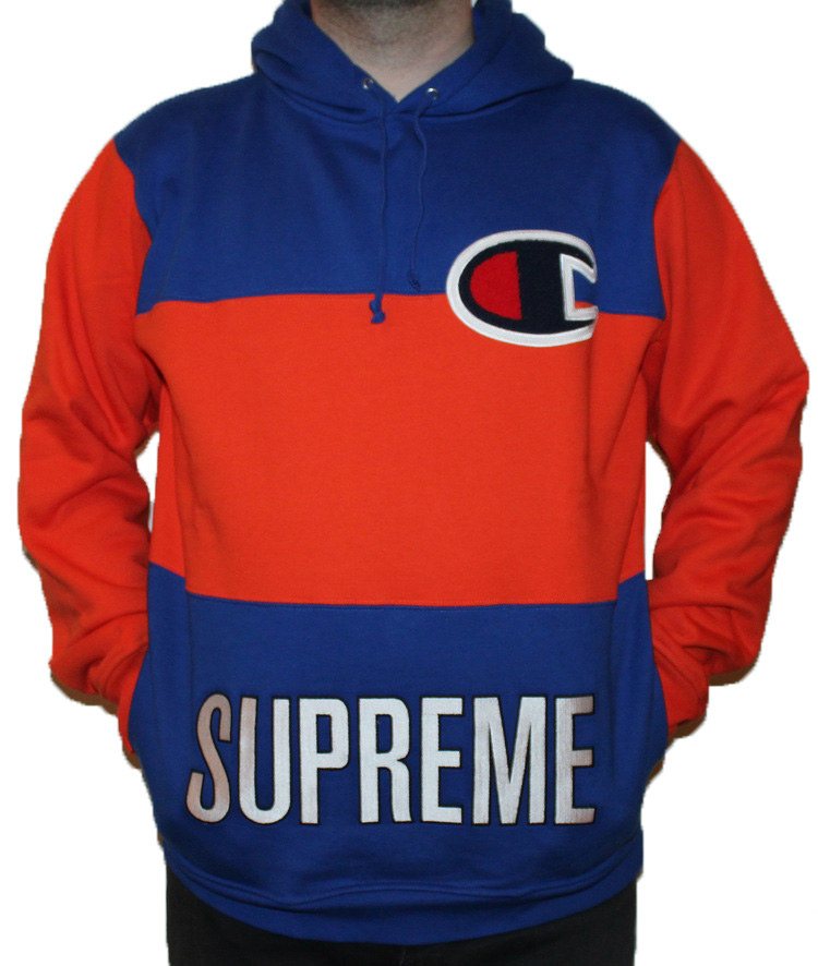 11913fe53676 Supreme x Champion Blue Orange Hoodie (Size M) — Roots