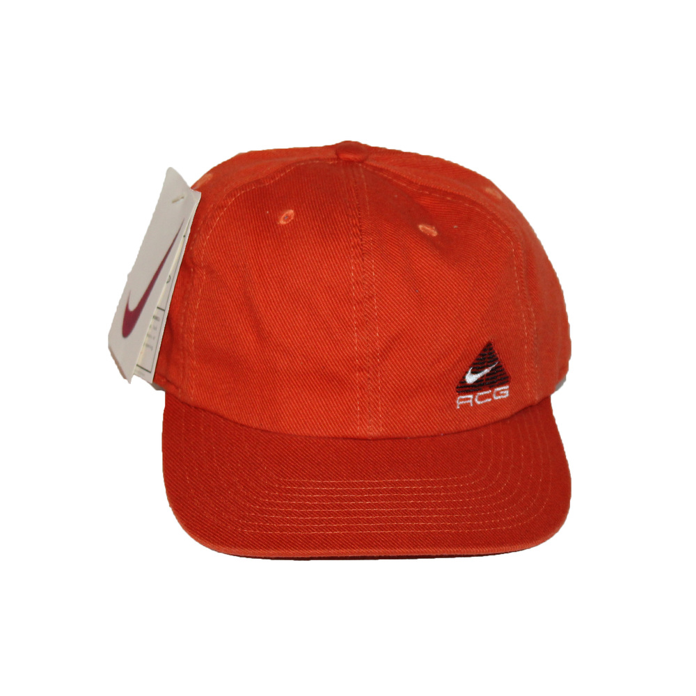 9f0e47a77c8b5 Vintage 90s Nike Orange ACG strap back