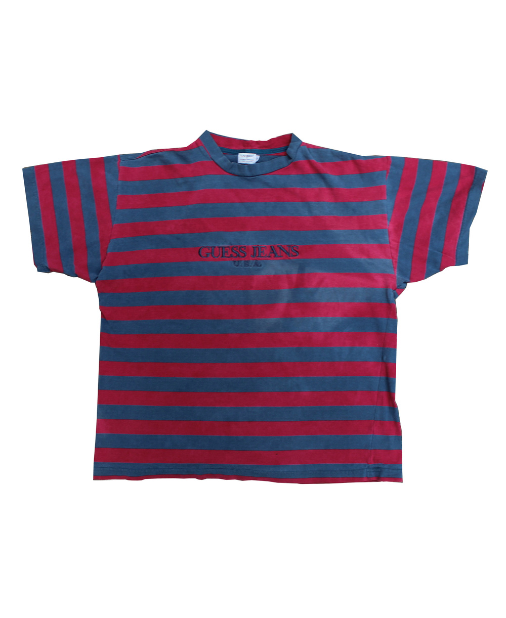 Sold t shirts 2 roots for Red blue striped shirt