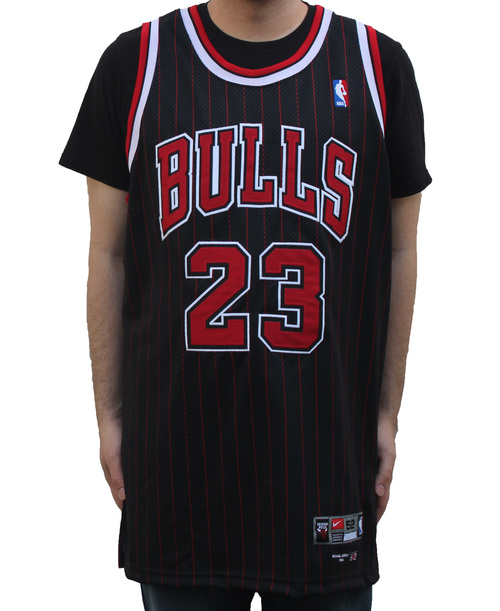 Nike Chicago Bulls Michael Jordan Authentic Pinstripe Jersey (Size