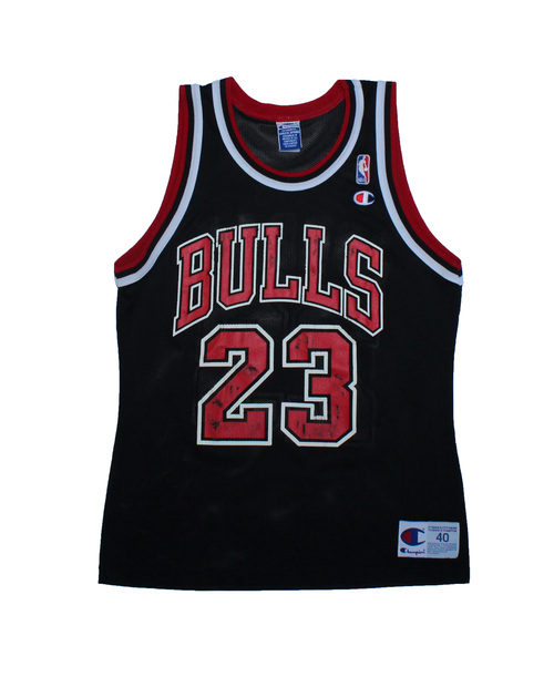 d30fb2f74 Vintage 90s Champion Chicago Bulls Michael Jordan black   red replica jersey