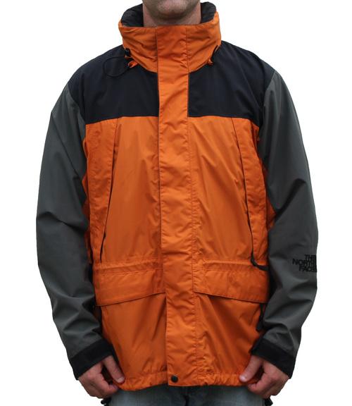 90abdab91 The North Face Orange / Grey / Black Jacket (Size M)
