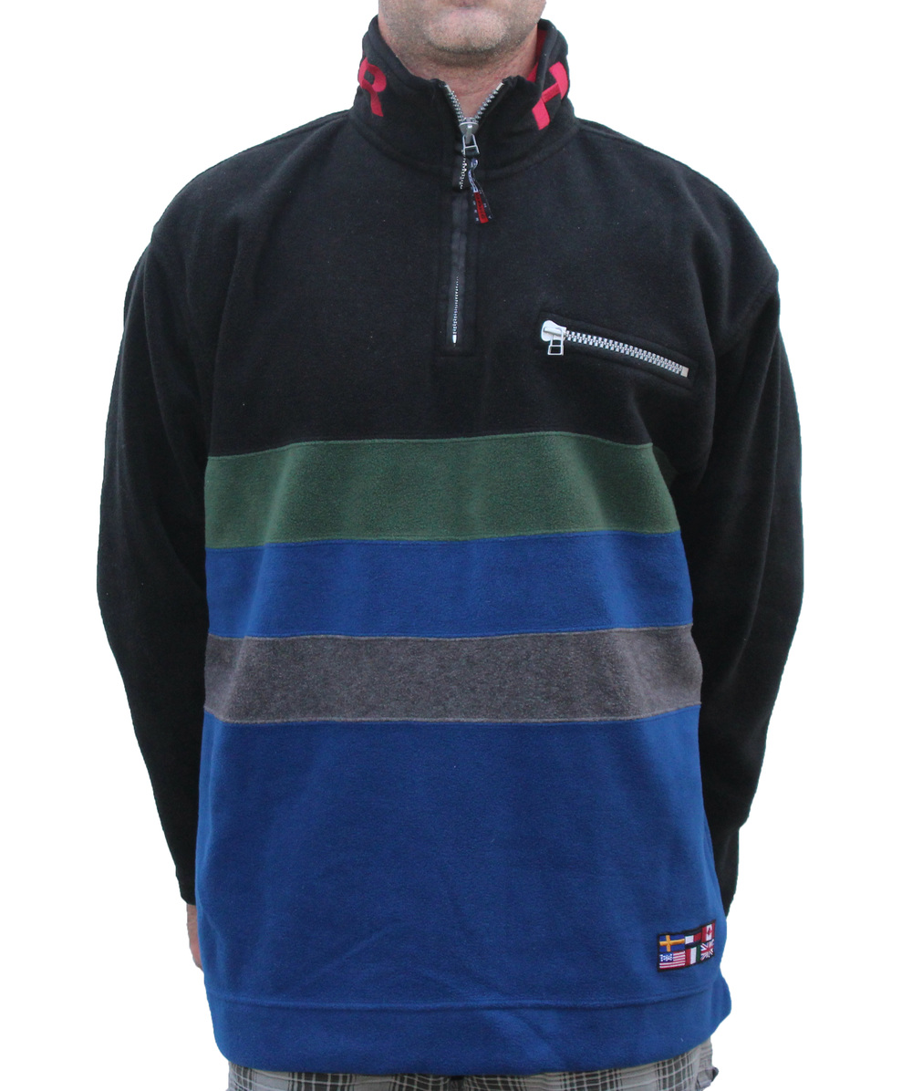 75c270a38ad5d Vintage Tommy Hilfiger Expedition Spell-Out Fleece 1 4 Zip (Size M ...