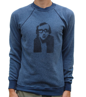 08a327f02 Vintage Woody Allen heather blue crew neck sweatshirt
