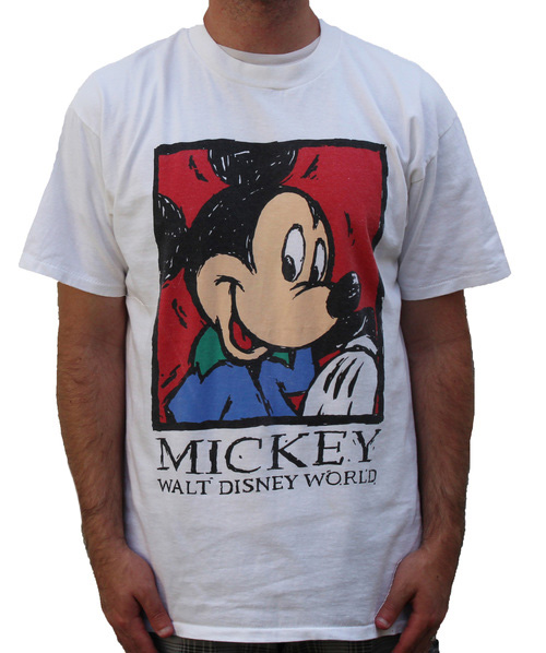 91f4ff468 Vintage 90s Mickey Mouse Walt Disney World T Shirt (Size L) — Roots