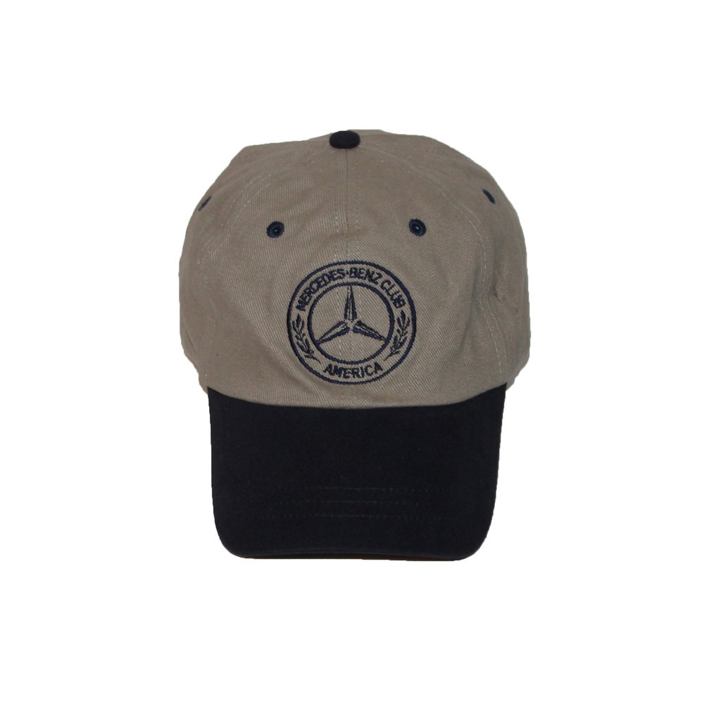 Mercedes Benz Club America Tan / Navy Strap Back