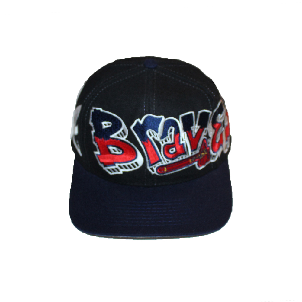 daf6e6ff6a45a ... mlb logo athletic sharktooth snapback hat cap splash 5ff41 d94c6  get  vintage 90s drew pearson atlanta braves graffiti snapback b9908 30908
