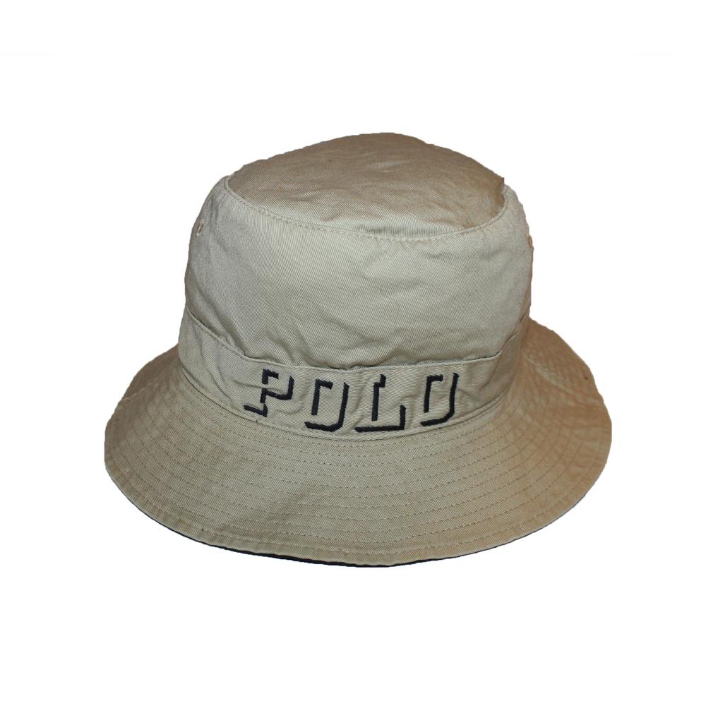 Vintage Polo Ralph Lauren Logo Tan Bucket Hat (Size S) — Roots e6ce3f7b0ef