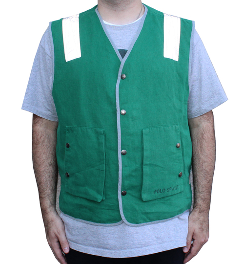3caf7e1c8d8 Vintage Polo Sport Green   Grey   3M Thin Vest (Size XL) NWT — Roots